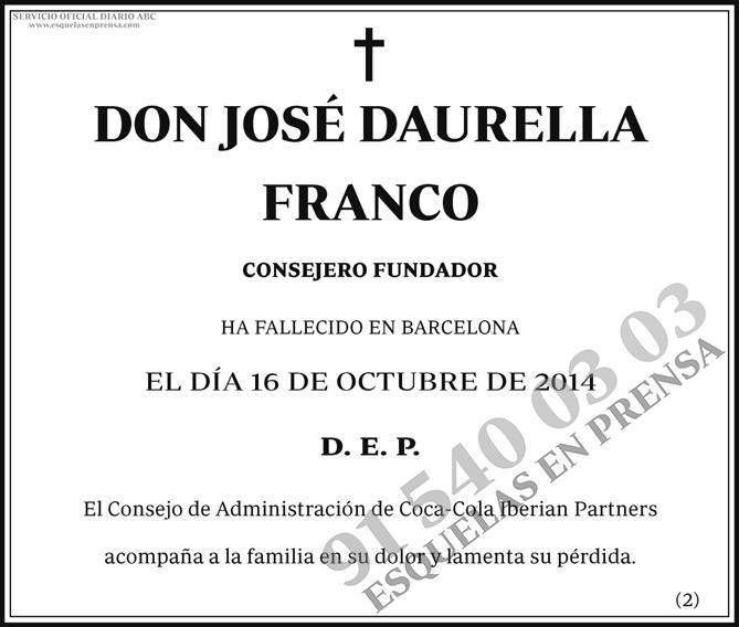 José Daurella Franco